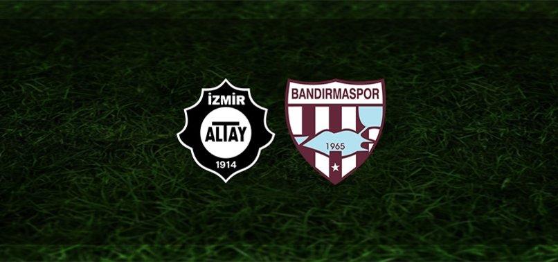 Altay - Bandırmaspor maçı ne zaman, saat kaçta ve hangi kanalda?   TFF 1. Lig