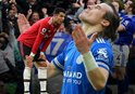 Çağlar attı Leicester ManU'ya acımadı!