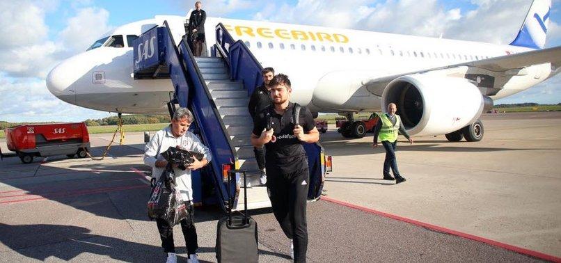 Beşiktaş 3 saatlik yolculuk sonrası İsveç'te
