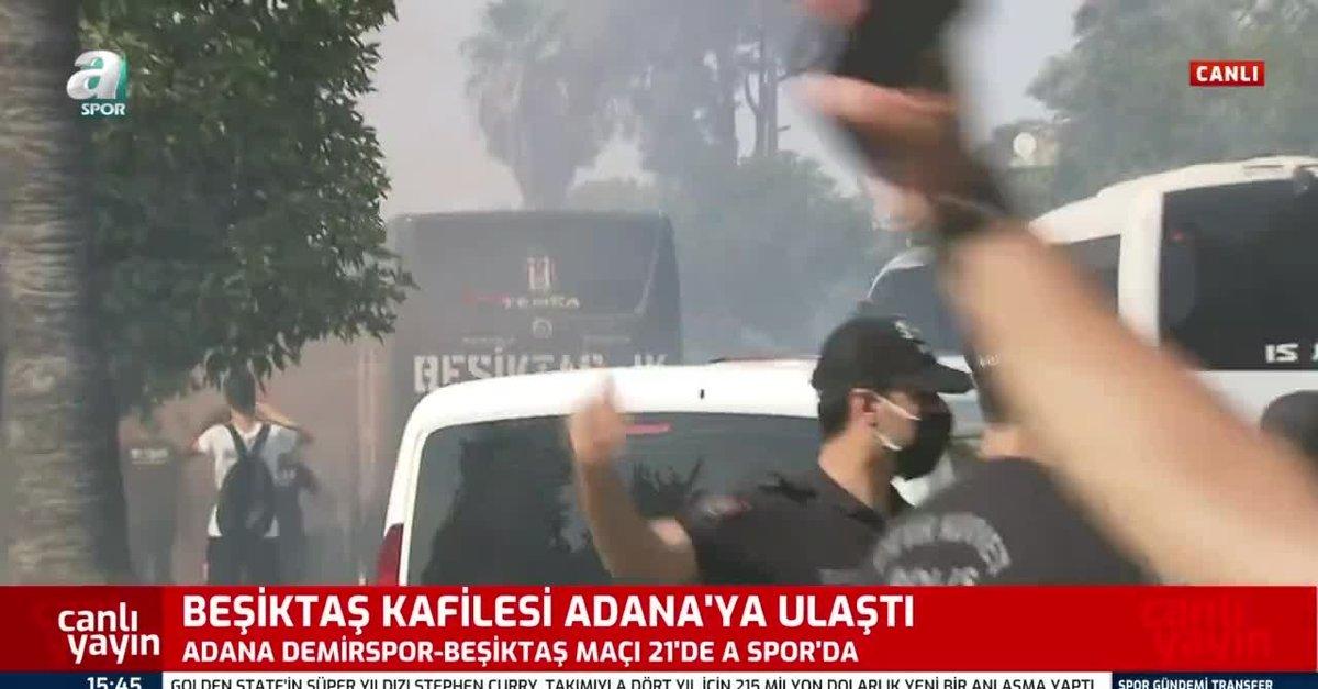 Beşiktaş kafilesi Adana'ya geldi!