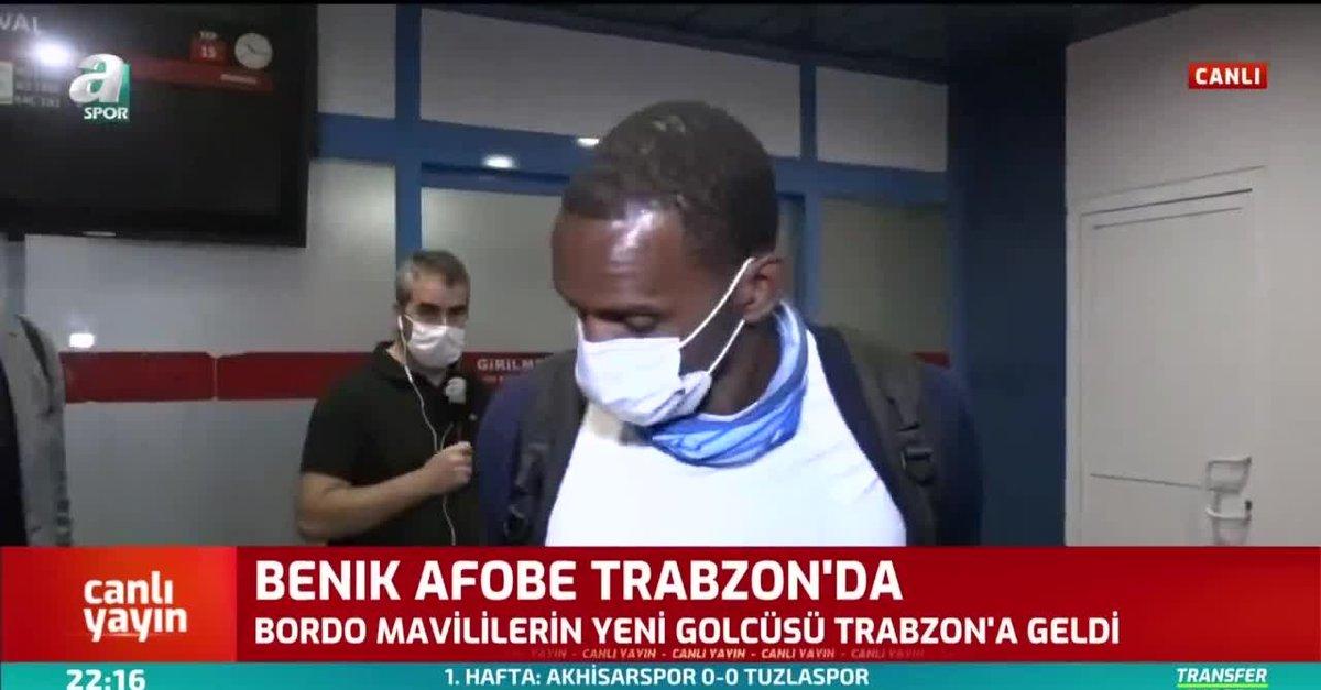 Trabzonspor'un yeni transfer Benik Afobe Trabzon'a geldi
