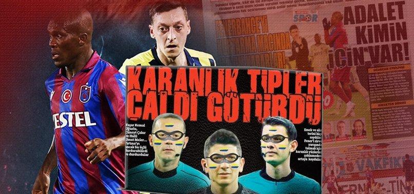 Trabzonspor-Fenerbahçe maçı sonrası yerel basından büyük tepki geldi!