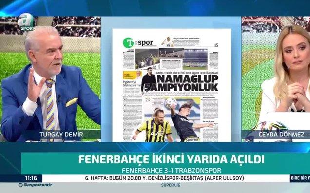 """Turgay Demir'den Fenerbahçe için şampiyonluk yorumu! """"Seyirci olsa..."""""""