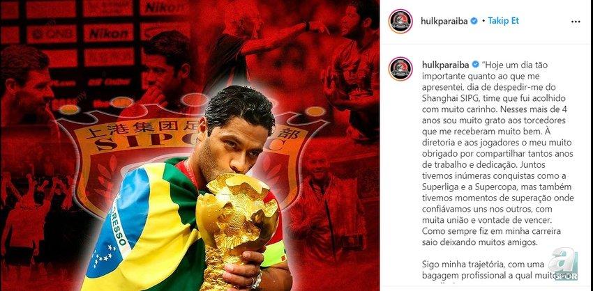 Galatasaray'a Hulk müjdesi! Resmen açıkladı