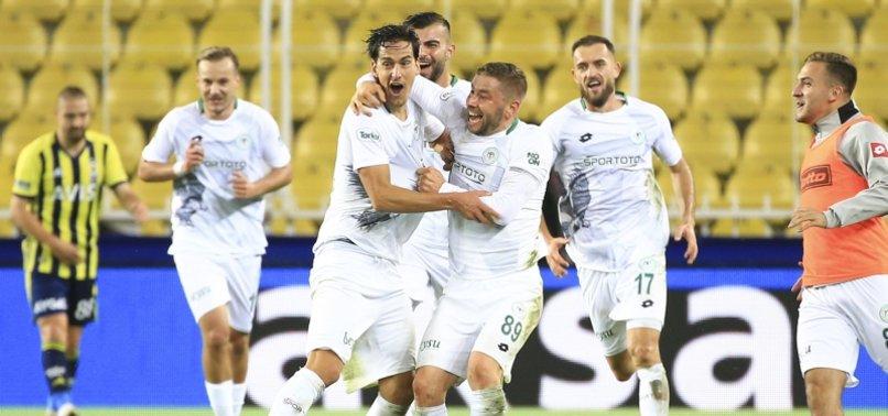 Konyasporlu Jevtovic'ten Fenerbahçe ağlarına muhteşem gol! Havada asılı kaldı