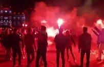 Lille taraftarı şampiyonluğu böyle kutladı!