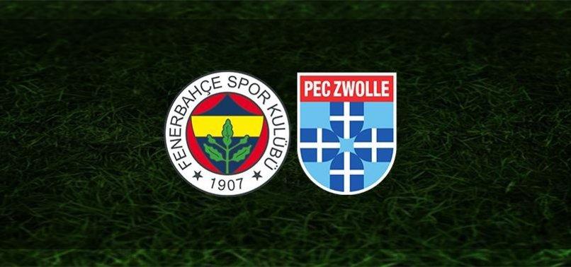 Fenerbahçe PEC Zwolle maçı ilk 11'ler belli oldu