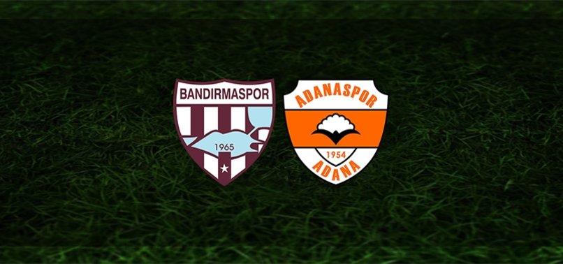 Bandırmaspor - Adanaspor maçı ne zaman, saat kaçta ve hangi kanalda? | TFF 1. Lig
