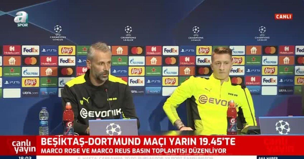 Rose ve Reus Beşiktaş - Dortmund maçı öncesi konuştu