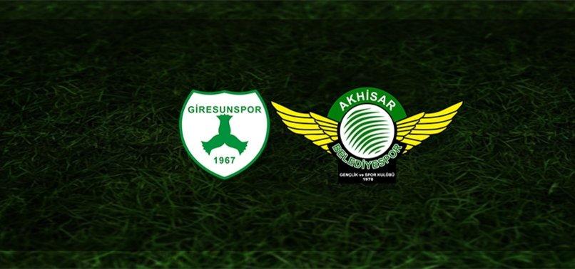 Giresunspor - Akhisarspor maçı ne zaman, saat kaçta ve hangi kanalda?   TFF 1. Lig