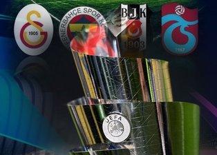 UEFA kulüp sıralamaları belli oldu! Galatasaray, Fenerbahçe, Beşiktaş, Trabzonspor...