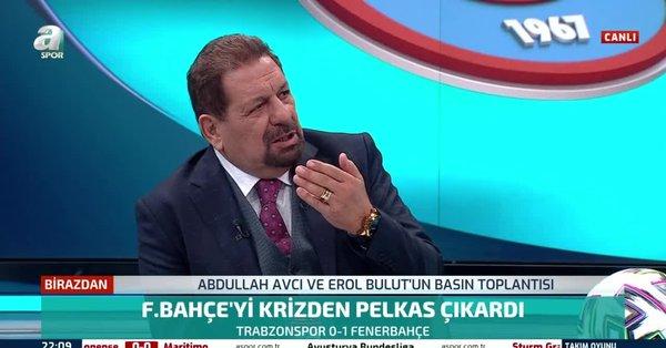 """Son dakika spor haberleri: Erman Toroğlu'ndan Trabzonspor-Fenerbahçe maçı sonrası Erol Bulut'a sert eleştiri! """"Mesut Özil'e hesap veriyor"""""""