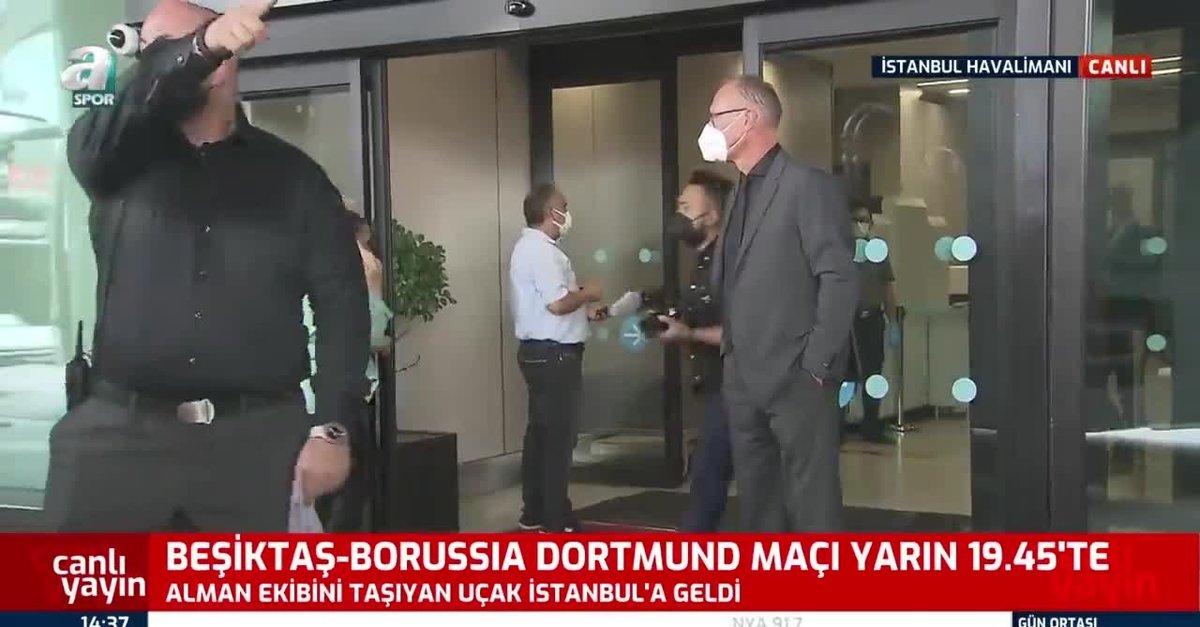 Dortmund Beşiktaş maçı için İstanbul'da!