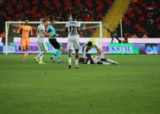 Son dakika spor haberi: Gaziantep FK - Beşiktaş maçında korkutan anlar! N'Sakala fenalaştı