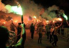 Fenerbahçeye Malatyada coşkulu karşılama