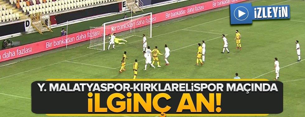 Yeni Malatyaspor-Kırklarelispor maçında ilginç an