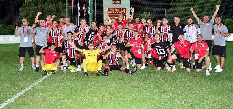 TFF 1. Lig U19 Gelişim Ligi'nde şampiyon Samsunspor! Balıkesirspor U19 1 - 2 Samsunspor U19 (Maç özeti)