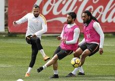 Galatasarayda derbi hazırlıkları sürdü