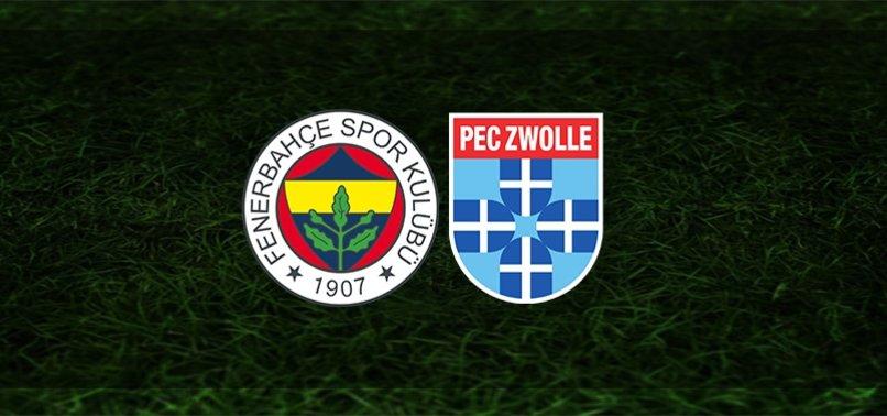 Fenerbahçe - PEC Zwolle maçı ne zaman, saat kaçta ve hangi kanalda? Şifresiz mi? | FB haberleri