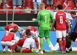Son dakika EURO 2020 haberleri: Danimarka - Finlandiya maçında korkutan anlar! Christian Eriksen'in kalbi durdu