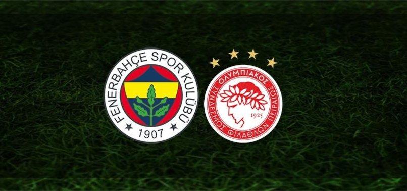 Fenerbahçe - Olympiakos maçı ne zaman? Fenerbahçe Avrupa ligi maçı saat kaçta ve hangi kanalda?   CANLI SKOR