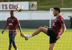 Trabzonsporun antrenmanında Sosa fırtınası