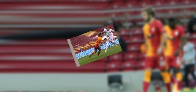Galatasaray - Alanyaspor maçında tartışılan penaltı pozisyonu!
