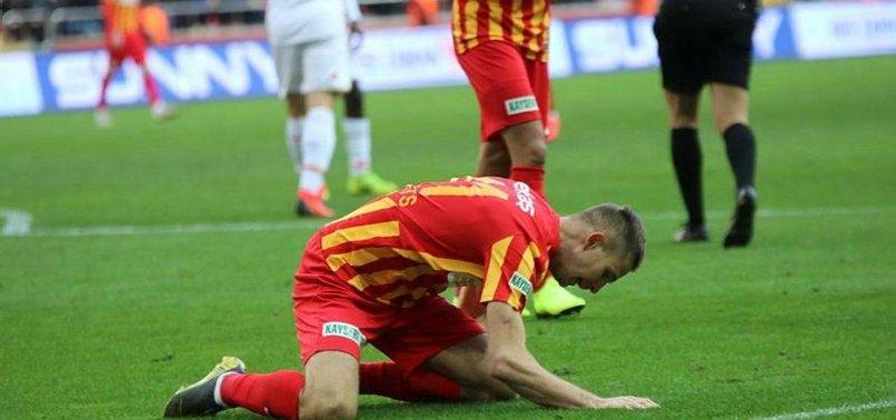 Kayserispor'da Artem Kravets çimleri dövdü