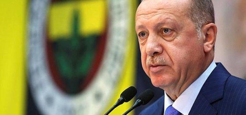 Başkan Erdoğan'danLefter Küçükandonyadismesajı