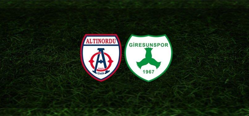 Altınordu - Giresunspor maçı ne zaman, saat kaçta ve hangi kanalda? | TFF 1. Lig