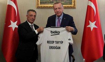 Beşiktaş yönetiminden Başkan Erdoğan'a ziyaret