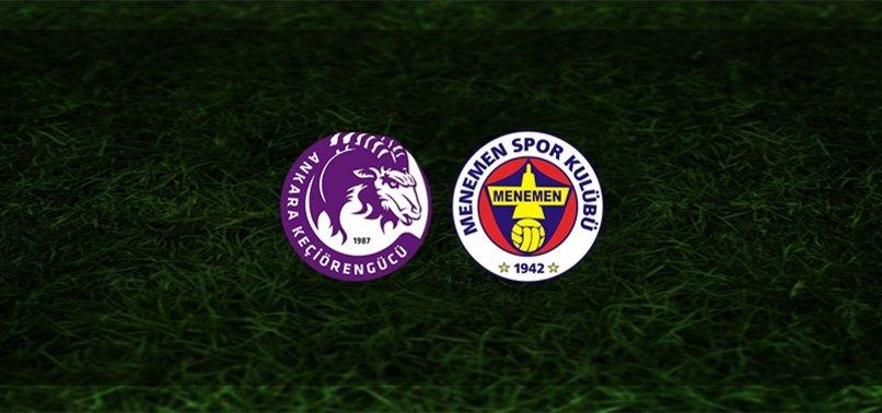 Keçiörengücü - Menemenspor maçı ne zaman, saat kaçta ve hangi kanalda? | TFF 1. Lig