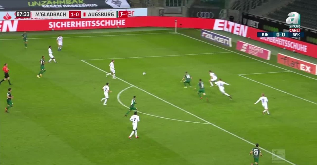 GOL | M'gladbach 1-1 Augsburg