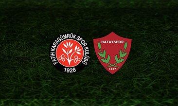 Karagümrük - Hatayspor maçı saat kaçta ve hangi kanalda?