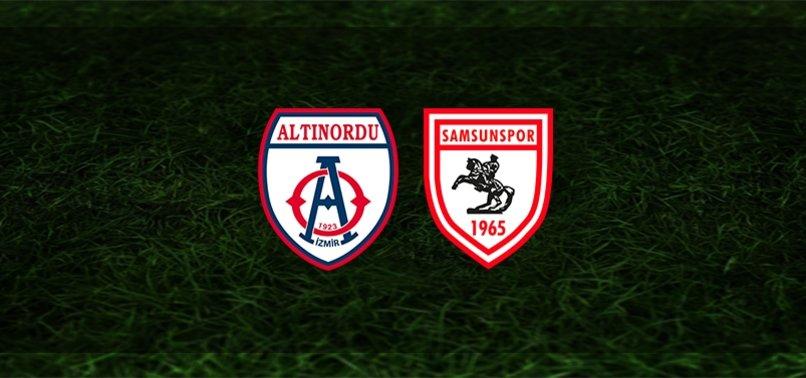 Altınordu Samsunspor maçı CANLI