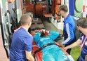 Sivas'ta korkutan sakatlık! Ambulansla hastaneye kaldırıldı