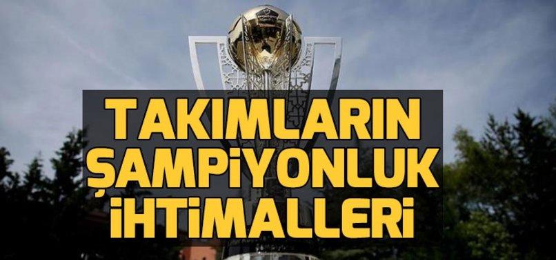 Hangi takım nasıl şampiyon olur? Beşiktaş nasıl şampiyon olur? Galatasaray nasıl şampiyon olur? Fenerbahçe nasıl şampiyon olur?